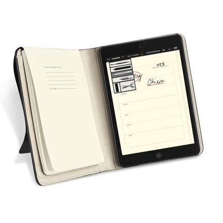 Moleskine – cover til iPad mini – åben