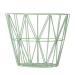 ferm Living – Wire Basket, medium, mintgrøn