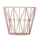 ferm Living – Wire Basket, medium, rosa