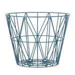 ferm Living – Wire Basket, medium, petroleum