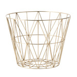 ferm Living – Wire Basket, medium, messing