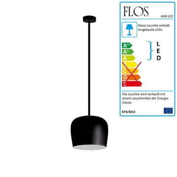 Flos – AIM lille LED-pendel fix, sort